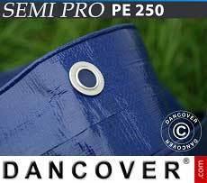Lona impermeable 10x15m, PE 250g/m², Azul