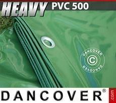 Lona impermeable 8x10m, PVC 570g/m², Verde