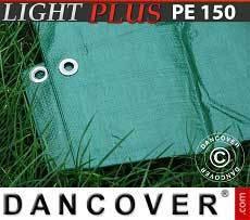 Lona impermeable 6x10m, PVC 500g/m², Verde