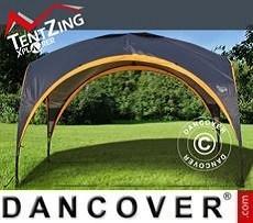 Pavilion para camping, TentZing®, 3,5x3,5m, Naranja/Gris Oscuro