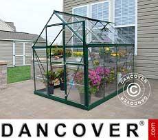 Invernadero en policarbonato Harmony 4,5m², 1,85x2,47x2,08m, Verde