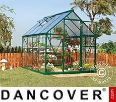 Invernadero en policarbonato Harmony 5,6m², 1,85x3,06x2,08m, Verde