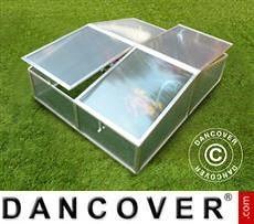Mini invernadero de suelo 1,19m², 1,08x1,10x0,40m, Aluminio