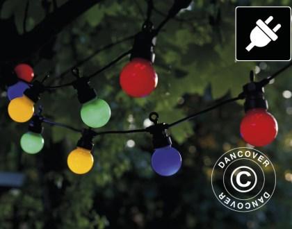 Le luci per feste creano l'atmosfera ideale