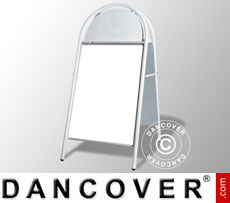 Cavalletto pubblicitario, 78x163cm, Bianco