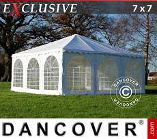 Gazebi Pagode  Exclusive 7x7m PVC, Bianco