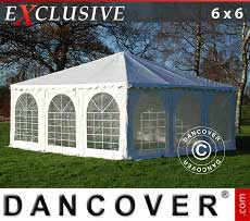 Gazebi Pagode  Exclusive 6x6 m PVC, Bianco