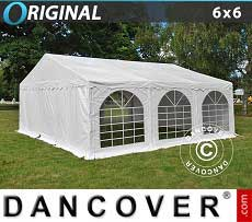 Tendoni Gazebi Party Original 6x6m PVC, Bianco