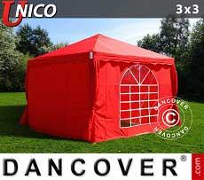 Tendoni Gazebi Party UNICO 3x3m, Rosso