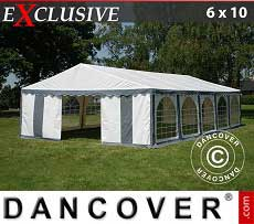 Tendoni Gazebi Party Exclusive 6x10m PVC, Grigio/Bianco
