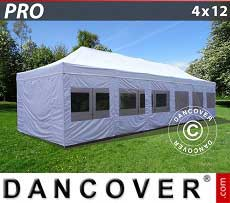 Tendoni Gazebi Party FleXtents PRO 4x12m Bianco, inclusi fianchi