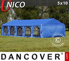 Tendoni Gazebi Party UNICO 5x10m, Blu