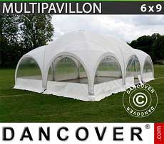 Tendoni Gazebi Party Multipavillon 6x9m, Bianco