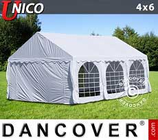 Tendoni Gazebi Party UNICO 4x6m, Bianco