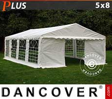 Tendoni Gazebi Party PLUS 5x8m PE, Bianco