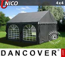Tendoni Gazebi Party UNICO 4x4m, Nero