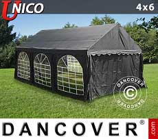 Tendoni Gazebi Party UNICO 4x6m, Nero