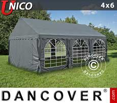 Tendoni Gazebi Party UNICO 4x6m, Grigio scuro