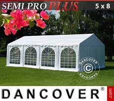 Tendoni Gazebi Party SEMI PRO Plus 5x8m PVC, Bianco