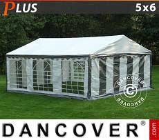 Tendoni Gazebi Party PLUS 5x6m PE, Grigio/Bianco