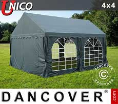 Tendoni Gazebi Party UNICO 4x4m, Grigio scuro