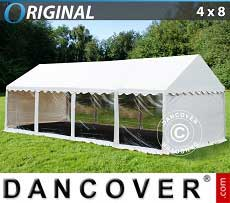 Tendoni Gazebi Party Original 4x8m PVC, Panoramiche, Bianco