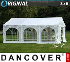 Tendoni Gazebi Party Original 3x6m PVC, Bianco