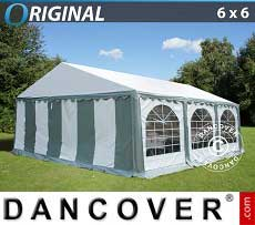 Tendoni Gazebi Party Original 6x6m PVC, Grigio/Bianco