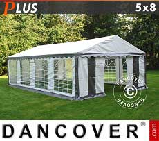 Tendoni Gazebi Party PLUS 5x8m PE, Grigio/Bianco