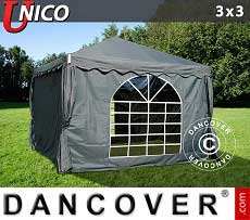 Tendoni Gazebi Party UNICO 3x3m, Grigio scuro