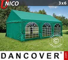 Tendoni Gazebi Party UNICO 3x6m, Verde scuro