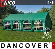 Tendoni Gazebi Party UNICO 4x8m, Verde scuro