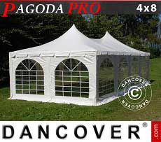 Tendoni Gazebi Party Pagoda PRO 4x8m, PVC