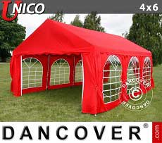 Tendoni Gazebi Party UNICO 4x6m, Rosso