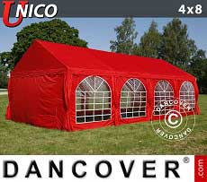 Tendoni Gazebi Party UNICO 4x8m, Rosso
