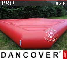 Cuscino gonfiabile 9x9m, Rosso, qualità per il noleggio