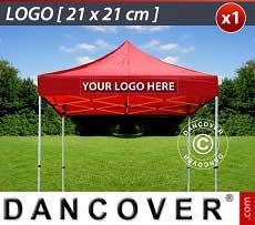 1 Stampa logo 21x21cm sulla frangia del FleXtents, centrata
