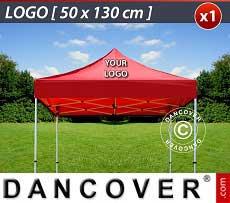 1 Stampa logo 50x130cm sul tetto del FleXtents