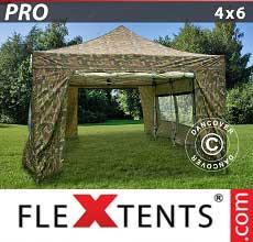 Tenda per racing PRO 4x6m Camouflage, inclusi 8 fianchi