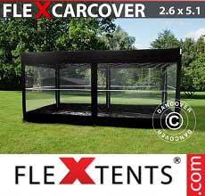 Tenda per racing Carcover, 2,6x5,14m, Nero