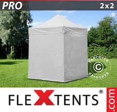 Tenda per racing PRO 2x2m Bianco, inclusi 4 fianchi