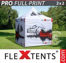 Tenda per racing PRO con completa stampa digitale, 2x2m, incl. 4…