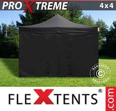 Tenda per racing 4x4m Nero, inclusi 4 fianchi