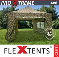 Tenda per racing Xtreme 4x6m Camouflage, inclusi 8 fianchi