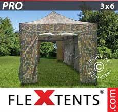 Tenda per racing PRO 3x6m Camouflage, incl. 6 fianchi