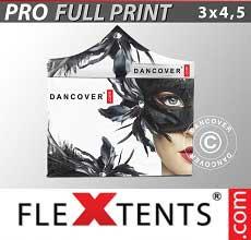 Gazebo pieghevole  PRO con completa stampa digitale, 3x4,5m, incl. 4