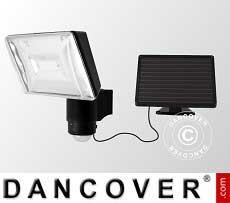 Riflettore a LED, con pannello a celle solari, sensore e batteria
