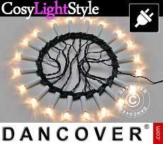 Luci de natale LED, 5m, 20 candele, multifunzione, luce bianca calda