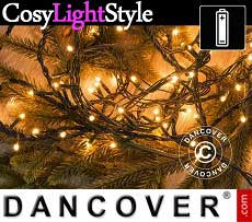 Catena luminosa con 80 lampadine LED, multifunzione, 6m, luce bianca calda