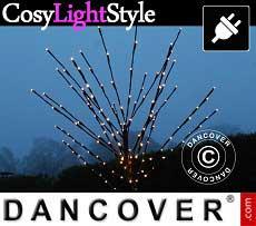 Albero di luci LED decorativo, 1,8m, luce bianca calda, 210 LED